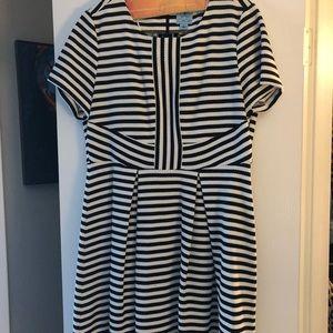 Knee Length A line dress. Back center zip.